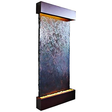 "Nojoqui Falls 72"" HIgh Grande Coppervein Wall Fountain"