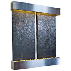 Nojoqui Falls Double Stainless Water Wall Fountain