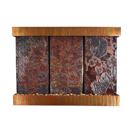 Nojoqui Falls Triple Copper Slate Wall Fountain