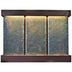 Nojoqui Falls Triple Coppervein Slate Wall Fountain