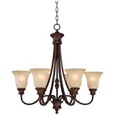 "Hill House Collection 6-Light  28"" Wide Chandelier"