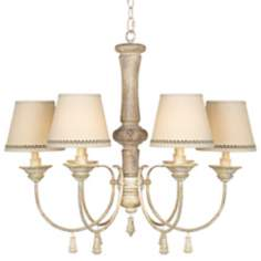 "Kathy Ireland Grand Maison Creme 28 1/4"" Wide Chandelier"