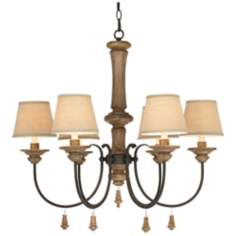"Kathy Ireland Grand Maison Woodland 28 1/4"" Wide Chandelier"