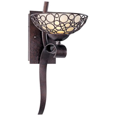 "Maxim Meridian 17"" High Bronze Wall Sconce"