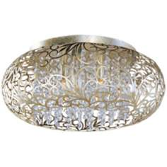 Maxim Arabesque Golden Silver Flushmount Ceiling Light