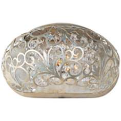 "Maxim Arabesque Golden Silver 9 1/2"" Wide Wall Sconce"