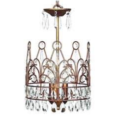 Gold Crown 3-Light Chandelier