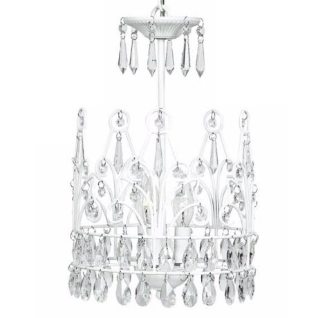 White Crown 3-Light Chandelier
