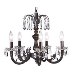 "Waterfall Mocha 18 1/4"" Wide Chandelier"