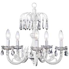 "Waterfall White 18 1/4"" Wide Chandelier"