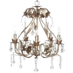 Warm Silver Cinderella 5-Light Chandelier