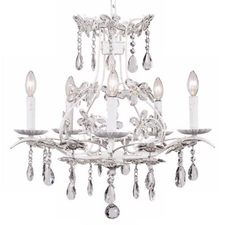 White Cinderella 5-Light Chandelier