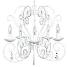 White Carriage 5-Light Chandelier