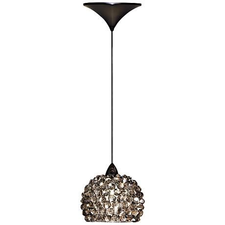 "WAC Gia 4 1/2""W Black Ice Diamond Dome LED Mini Pendant"