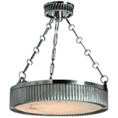 "Hudson Valley Lynden 16"" Wide Antique Nickel Pendant Light"