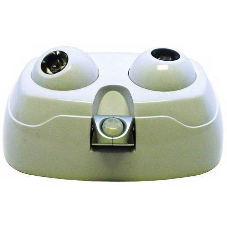 Dual Bulb Motion Activated White Security Light