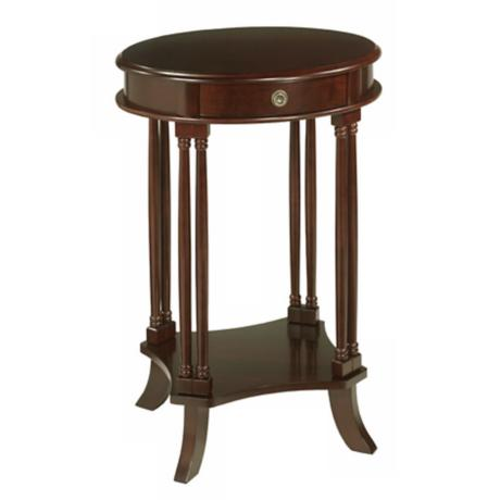 Bellingham Espresso Maple Finish Wood Side Table