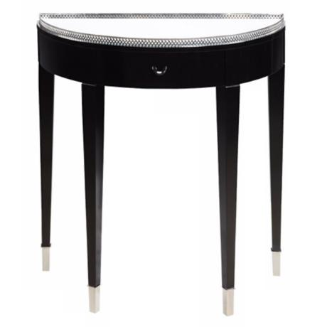 Black Tie Mirrored Top Hall Table