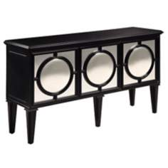 Mirage Black and Mirror Sideboard Cabinet