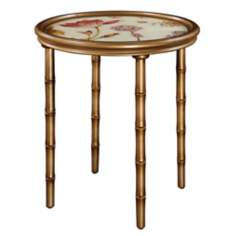 Vivian Reverse Painted Glass Accent Table