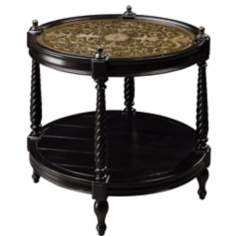 Caswell Ebony Accent Table