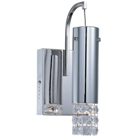 ET2 Bangle Polished Chrome and Crystal Wall Sconce