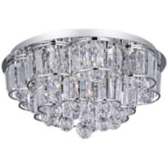 "ET2 Bangle Chrome 18"" Wide Flush Mount Ceiling Fixture"