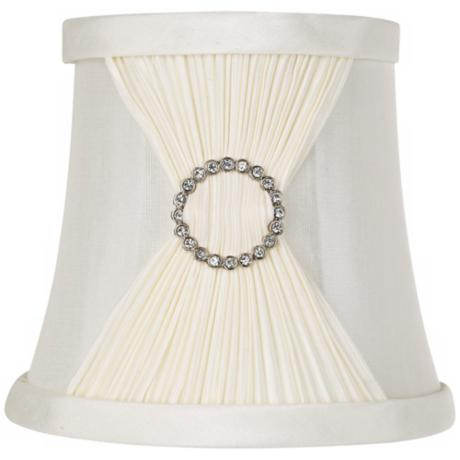 Ivory Fabric Pinch Pleat Shade 4x5.5x5 (Clip-On)