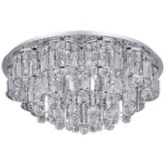 "ET2 Bangle Chrome 26"" Wide Flush Mount Ceiling Fixture"