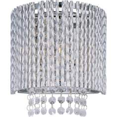 "ET2 Spiral Polished Chrome 7 1/2"" Wide Wall Sconce"