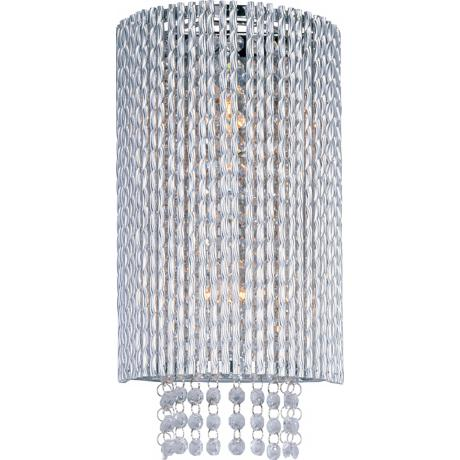 "ET2 Spiral Polished Chrome 15"" High Wall Sconce"