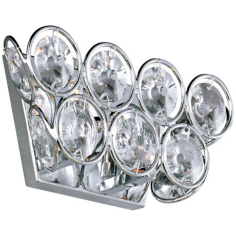 "ET2 Brilliant Polished Chrome 10"" Wide Wall Sconce"