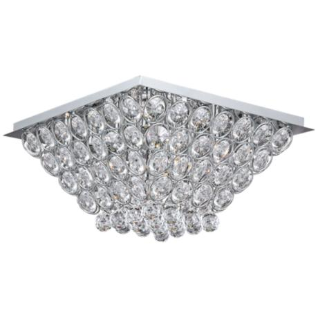 "ET2 Brilliant Chrome 19 1/2"" Wide Flush Mount Ceiling Light"