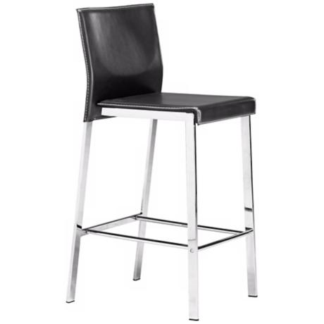 Zuo Boxter Black Modern Counter Stool