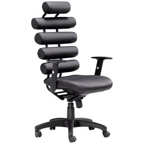 Zuo Unico Black Leatherette Office Chair