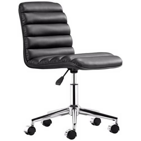 Zuo Admire Black Armless Office Chair