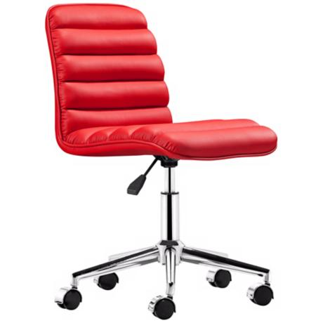 Zuo Admire Red Armless Office Chair