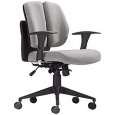 Zuo Aqua Gray Mesh Office Chair