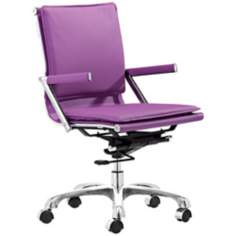 Zuo Lider Plus Purple Office Chair