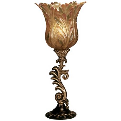 Hand-Made Gold Tulip Bloom  Accent Table Lamp