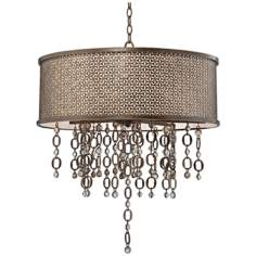 "Metropolitan Ajourer  27 3/4"" Wide Drum Pendant Light"