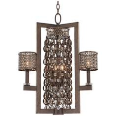 "Metropolitan Ajourer Collection 22"" Wide Chandelier"