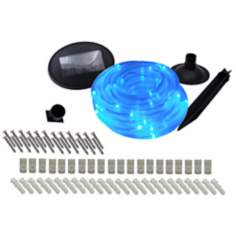 Solar 100 LED Blue Rope Lights