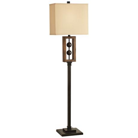 Kichler Sphere Distressed Brown and Black Floor Lamp