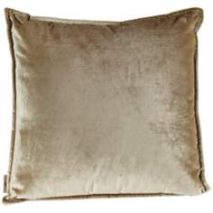 "Sage Green Velvet 18"" Square Pillow"