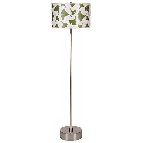 Lights Up! CanCan Green Ginko Shade Adjustable Floor Lamp