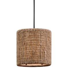 Uttermost Burleson Natural Twine 1-Light Mini Pendant Light