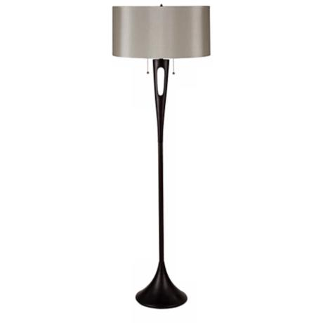 Lights Up! Soiree 2-Light Pebble Silk Glow Shade Floor Lamp