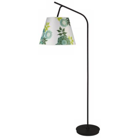 Lights Up! Walker Anna Green Shade Floor Lamp