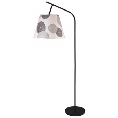 Lights Up! Walker Black Mumm Shade Floor Lamp